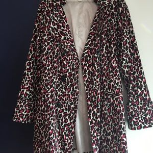 Pink Leopard Trench Coat